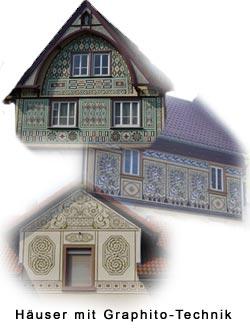 Fassaden in Bensheim mit Graphitoputz gestaltet von Joseph Stoll
