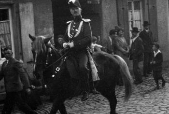 Bergsträßer Winzerfest 1931 - Erste Beteiligung der Bügerwehr